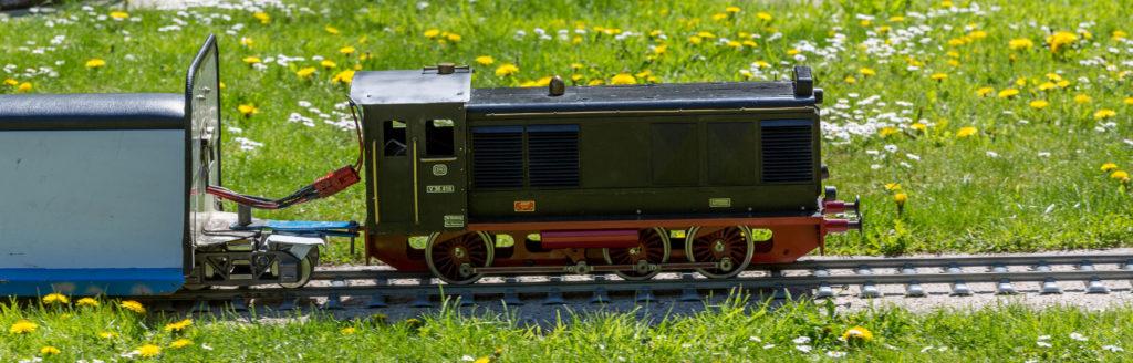 ...mit Rollmaterial der Deutschen Bahn