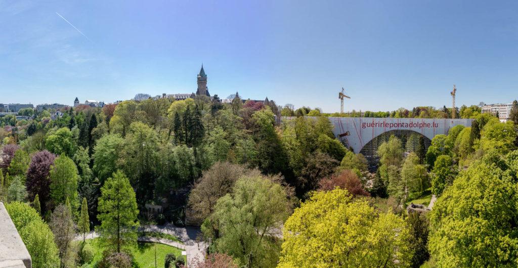 Blick von der Innenstadt zum Gebäude der High Authority of the European Coal ans Steel Community